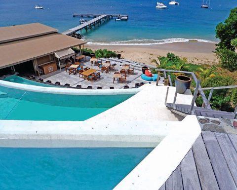 Utsikt från Tribu Beach Club