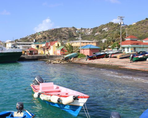 Mayreau - hamnen