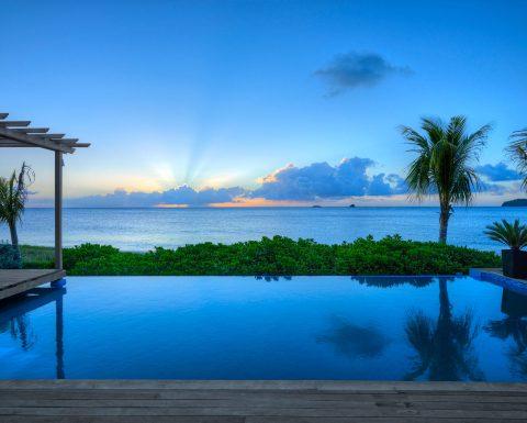 Magisk solnedgång från Tribu Beach Club