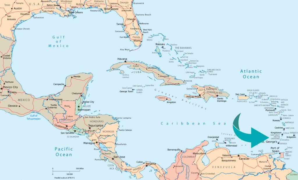 Karta över Mayreau