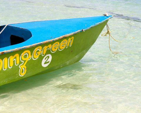 Båt i vattnet vid ön Mayreau